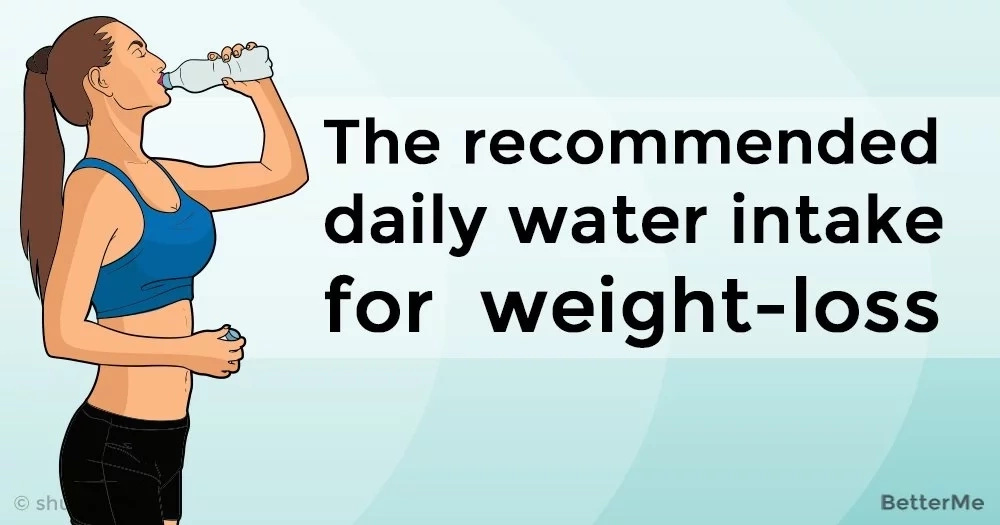 The recommended daily water intake for weight-loss