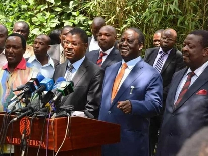 Raila's meeting with NASA senators fails to resolve Wetangula ouster