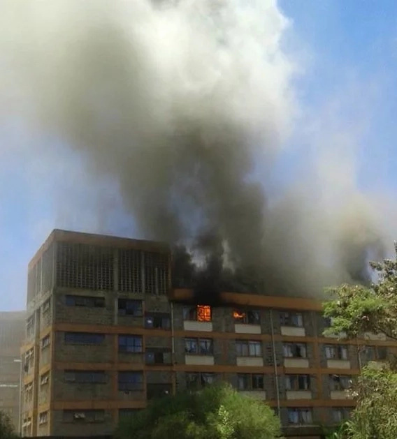 Huge fire engulfs JKUAT a week after riots