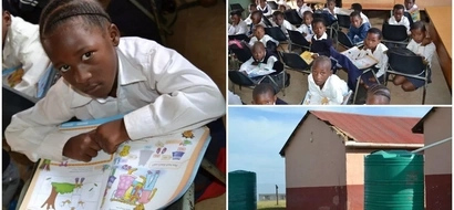 Sad! Schoolchildren KNEEL on the floor and use chairs as desks due to lack of furniture (photos)