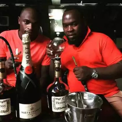 Dennis Oliech pay visit to cancer patient Harold Ndege