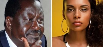 NASA presidential candidate Raila Odinga identifies the hottest women in Kenya