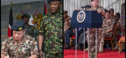 Did Uhuru wear two trousers while welcoming the King of Jordan or this shoes are just funny?