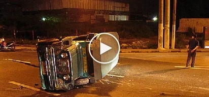 Walang disiplina! Reckless jeepney driver suffers violent collision after beating red light in Pedro Gil