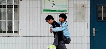 Boy who carried his disabled friend for 3 years proves true friendship exist