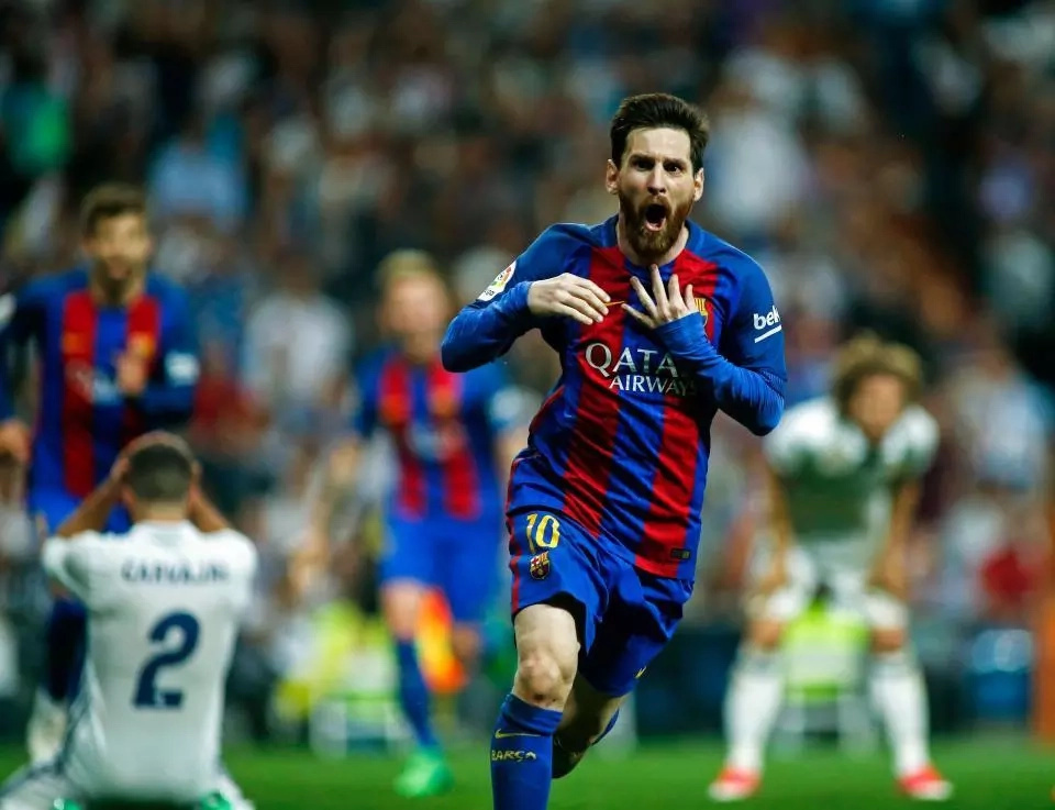 The funny side of Lionel Messi's goal celebration in the El Classico