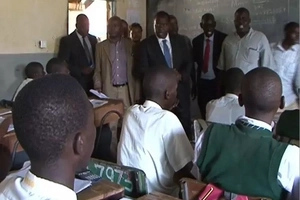 High school students attack Education CS Fred Matiang'i