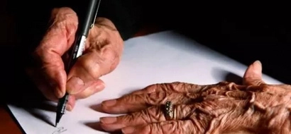 A wife found a letter from her husband. It brought tears of pain and happiness to her eyes
