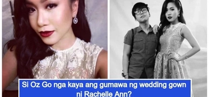 Rachelle Ann Go's wedding gown designer is rumored to be her brother