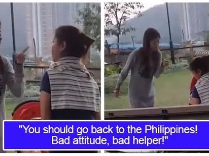 Dinuro-duro si kabayan! Video of a woman shouting at Filipino domestic helper irked the netizens