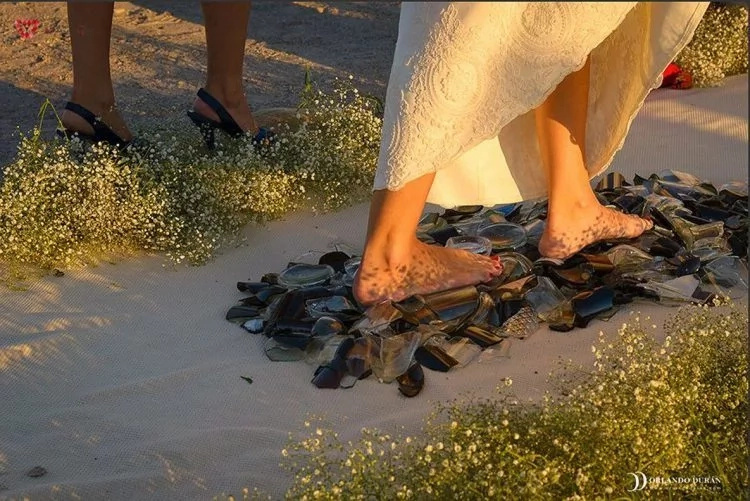 Would you walk on glass to get married?