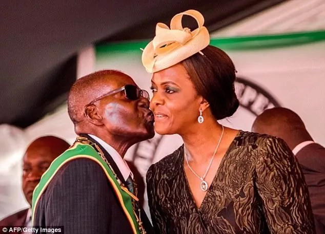 Grace Mugabe and her husband Robert Mugabe. Photo: Getty Images