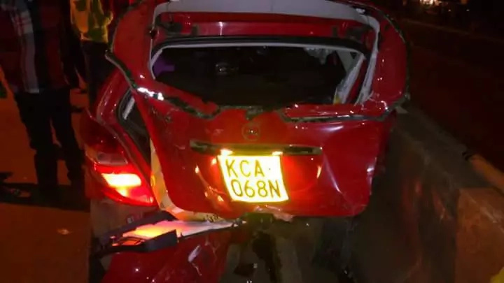 Photos: Gospel singer Mercy Masika involved in road accident