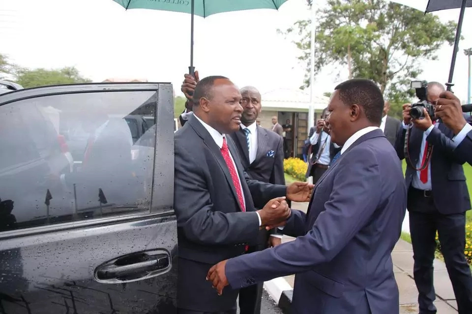 Outrage as Mahckos Govenor Alfred Mutua mimicks the president