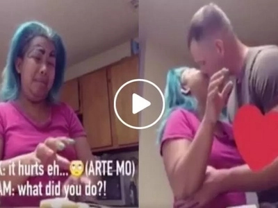 Madam Kilay is at it again – making us laugh and jealous with this new skit with her foreigner husband