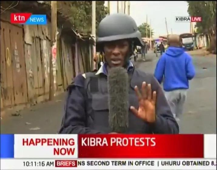 KTN journalist arrested for covering protests