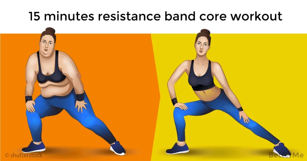 15 minutes resistance band core workout that can help you sculpt abs