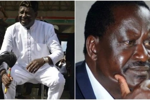 Raila Odinga caught in an awkward situation after youthful girl 'grinds' on him (VIDEO)