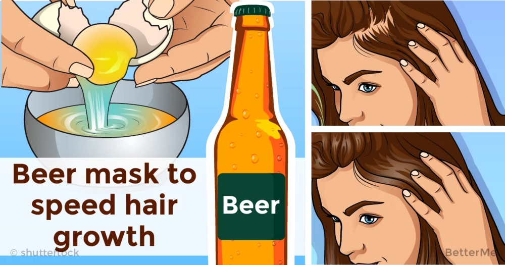 Effective natural recipe with beer can help you speed your hair growth