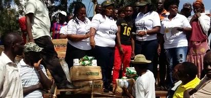 NASA leaders visit Kibra and parade victims of protests, donate cash and foodstuffs
