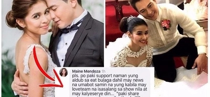 LOOK: Maine Mendoza is asking her fans to support the AlDub love team. Is AlDub threatened by LizQuen?