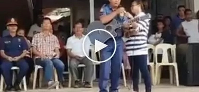 This policeman composed a song about Duterte's war on drugs, video went viral