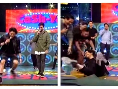 Vhong Navarro suffers painful accident while playing Cash-Ya on 'It's Showtime!' He then blamed Billy Crawford for what happened to him!