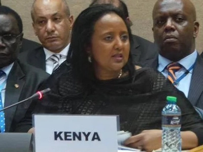 Amina Mohamed speaks emotionally after losing the AUC chair election