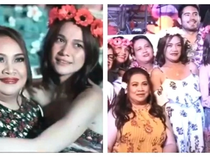 Bea Alonzo threw an epic 50th birthday party for her mommy Mary Ann! Gerald Anderson attended to bond with Bea's family