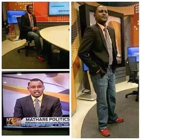 K24 news anchor leaves social media stunned after reading news in this attire (photo)