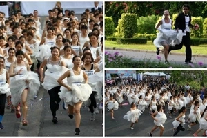 See 250 couples racing in Running of Brides to win KSh3.000.000 for their wedding (photos, video)