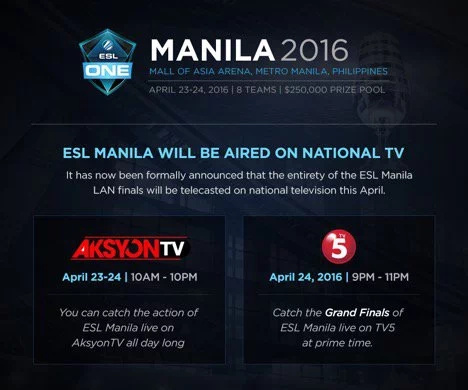 Top-tier Dota 2 tournament comes to Manila;  cash prize at $250,000