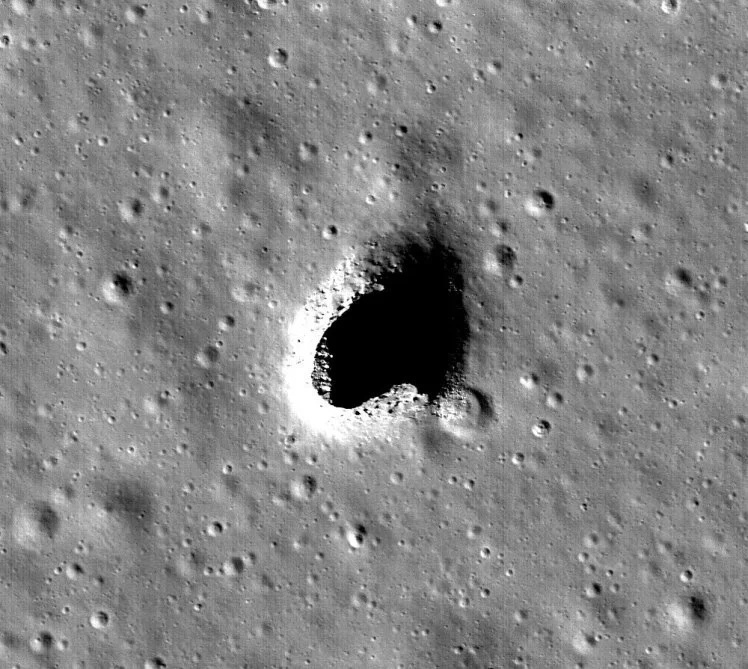 The lava tube opens up possibilities of building a lunar base or city. Photo: NASA