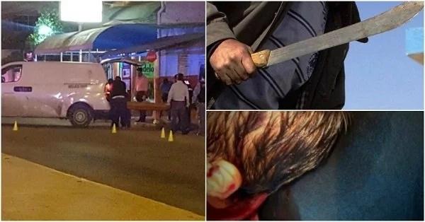 Atacó con un machete a su hijo de 3 años