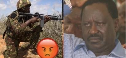 Wanajeshi wa KDF watoa onyo kali kwa Raila Odinga