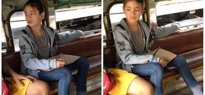 Cutie spotted! Netizen gush over a cute boy she saw inside a jeepney: 'Mukhang babae pero lalaki talaga siya'