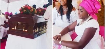 Mamake bwana wa Emmy Kosgei AZIKWA (picha)