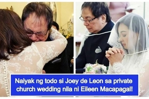 Nag Church wedding din! Heartwarming photos of Joey de Leon & Eileen Macapagal's church wedding go viral