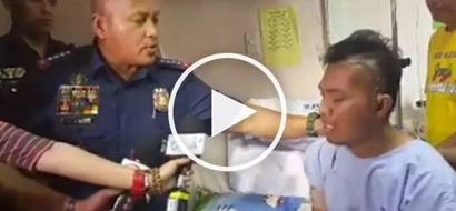 Bato visits heroic policeman shot in the head while fighting drug pushers