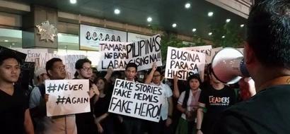 Palaban talaga ang mga Tamaraws! FEU students, faculty hold protest against Marcos hero's burial