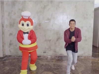 Jollibee makes us love him more with his epic dance-off with Gary Valenciano