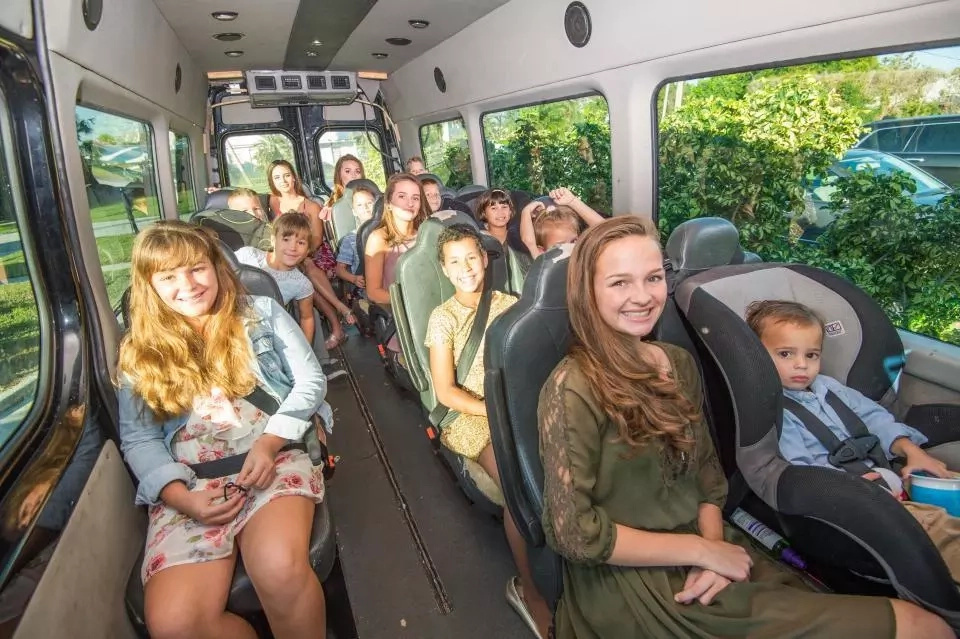 The couple has a 17-seater van to transport their kids. Source: thesun.co.uk