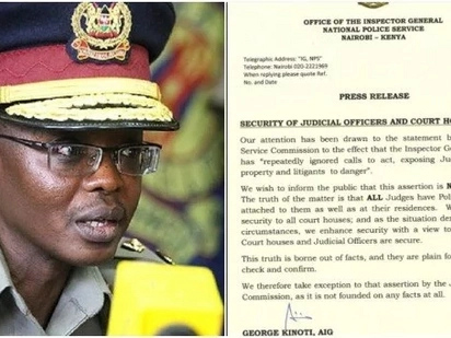 Police headquarters rubbishes Chief Justice Maraga's 'baseless' claims on poor security