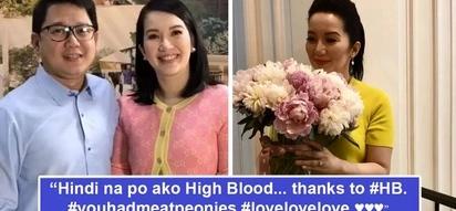 Pinakalma ni Bistek! Kris Aquino nagdeklarang di na siya high blood, salamat sa mga bulaklak na pinadala ni Herbert Bautista