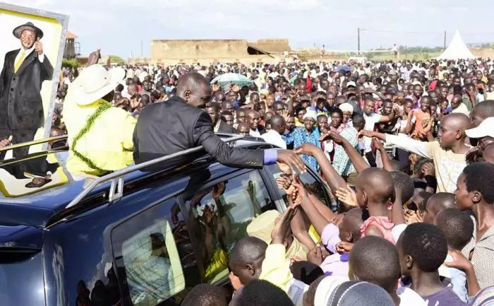 PHOTOS: Ruto In Uganda Campaigning For Museveni's 34 Year-Rule As President