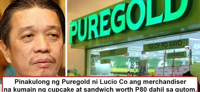 Nagutom pero pinakulong! Puregold employee allegedly eats cupcake without permission during lunchtime, management had him jailed