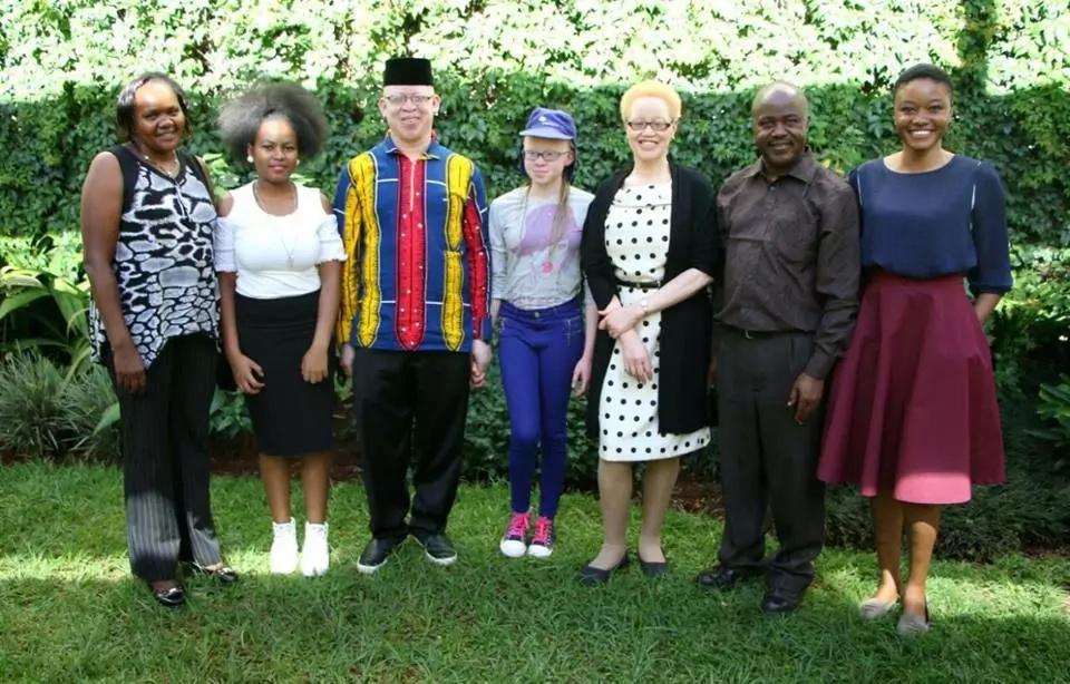 Top KCPE girl Goldlyn Kakuya meets Kenya's judge living with albinism