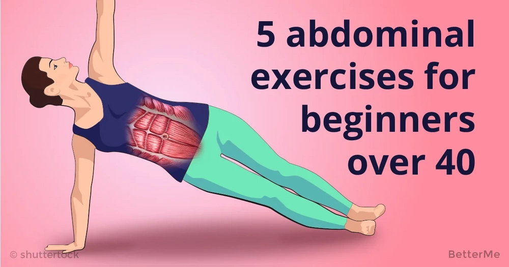 5 abdominal exercises for beginners over 40