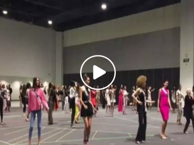 Take a peek into the rehearsals of Miss Universe 2016 candidates for their opening number