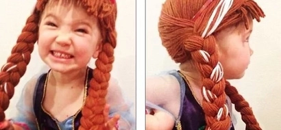 So amazing - Mom Knits Disney Princess Wigs For Little Girls Battling Cancer